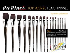 DaVinci - Flachpinsel - Canvasi Edition Stationary, Tableware, Paint Colours, Brushes, Dinnerware, Porcelain