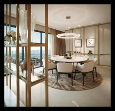 Discover the most effective suggestions for your minimalist dining-room that matches your style and taste. Search for fantastic images of minimalist dining-room for ideas. Dining Room Design, Dining Room Furniture, Dining Room Table, Dining Chairs, Dining Area, Kitchen Dining, Luxury Dining Chair, Minimalist Dining Room, Dinner Room
