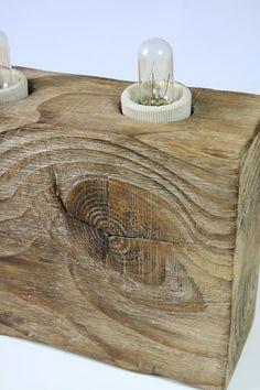 Handmade wooden lamp by BlauthHandMade on Etsy
