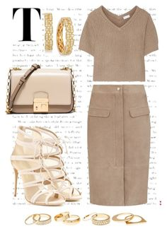 NUDE X BEIGE by white-tie on Polyvore featuring polyvore fashion style Brunello Cucinelli Salvatore Ferragamo Michael Kors LE VIAN Charlotte Russe clothing