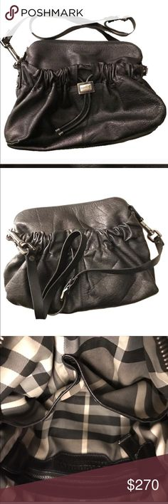 Burberry 11.5x11 Black cross body This purse is beautiful but a little to big for me 💕 Burberry Bags Crossbody Bags