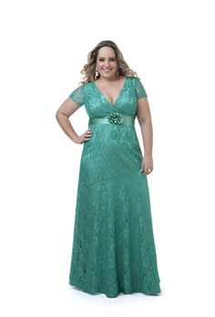 vestido de festas plus size - Pesquisa Google Vestidos Plus Size, Plus Size Dresses, Nice Dresses, Formal Dresses, Curvy Dress, I Dress, Lace Dress, Plus Size Evening Gown, Evening Dresses