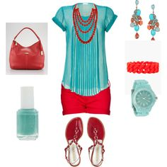 Made by me - loving red & turquoise