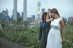 Brooklyn Grange is a Wedding Venue in New York, United States, Brooklyn. See photos and contact Brooklyn Grange for a tour. Nyc Wedding Venues, Manhattan Skyline, Brooklyn, United States, York, City Lights, Couple Photos, Celebrities, Weddings