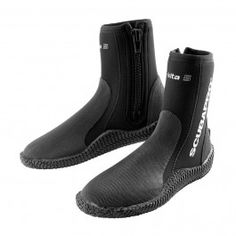 Seac 5mm Neoprene Basic Hd Scuba Boots With Side Zipper Professional Design Sporting Goods