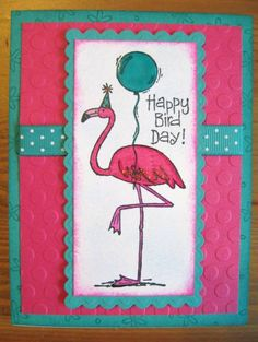 helpful lovelybaby flamingo bird hot pink one of a kind : Flamingos are highly gregarious birds. Flocks numbering inside the plenty could remain visible around very long, leaning trip structures plus searchin. Hand Made Greeting Cards, Making Greeting Cards, Greeting Cards Handmade, Cool Birthday Cards, Handmade Birthday Cards, Bday Cards, Flamingo Bird, Pink Flamingos, Happy Bird Day
