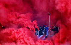 Olympiakos vs PAOK 23.10.2016 Ultras Football, Soccer, Painting, Modern, Beauty, Around The Worlds, Photos, Football Soccer, Futbol