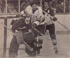 Ken Dryden and Phil Esposito vs. Montreal Canadiens, Hockey Teams, Ice Hockey, Ken Dryden, Phil Esposito, Canada Cup, Summit Series, Goalie Mask, Vancouver Canucks