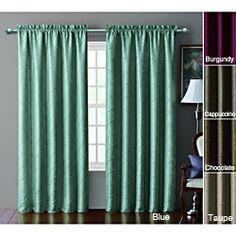 Sable Pintucked Taffeta Blackout 84 inch Curtain Panel