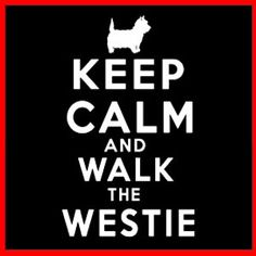 KEEP CALM AND WALK THE WESTIE (Owner West Highland White Terrier Dog) T-SHIRT | eBay