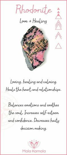 Rhodonite: love & healing
