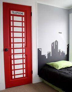 city phone box mural