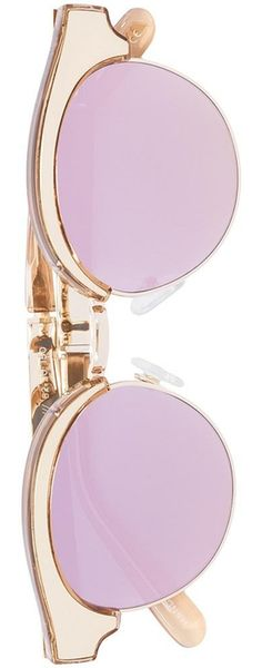 LE SPECS  'Cleopatra' Sunglasses Blush/Pink
