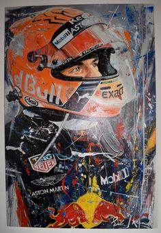 Online veilinghuis Catawiki: Red Bull - Formule 1 - Max Verstappen - 2018 - Kunstwerk Red Bull F1, Red Bull Racing, Aston Martin, Formula 1 Iphone Wallpaper, Mad Max, Grand Prix, Bmw Classic Cars, Speed Art, Formula 1 Car