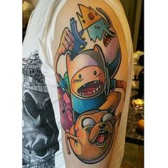 "Have them run away from the Ice King and from Lumpy Space Princess, maybe?? | 38 ""Adventure Time"" Tattoos That Are Actually Best Buds For Life"