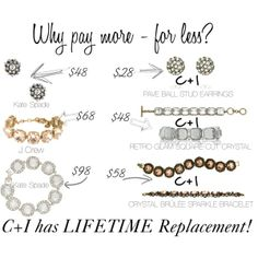 Get the same great look with a lifetime replacement guarantee - FOR LESS!!! Chloe + Isabel jewelry is fashion forward  classic. The Quality shows! Shop my boutique www.chloeandisabel.com/boutique/kristinluttrell #jewelry #chloeandisabel #looksforless