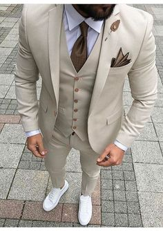 Custom Made Men Wedding Suit Prom Tuxedo Slim Fit 3 Piece Groom Wear Blazer Custom Made Men Wedding Suit Prom Tuxedo Slim Fit 3 Piece Groom Wear Blazer 36 Groom Suit That Express Your Unique Styles and…Boho Wedding Dresses custom madeTHE DROP Dress Suits For Men, Suit And Tie, Men Dress, Prom Suits For Men, Tan Suit Men, Funky Prom Suits, Best Mens Suits, Suit For Man, Taxido Suit