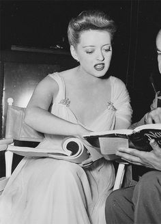 Bette Davis on the set of Now, Voyager 1942