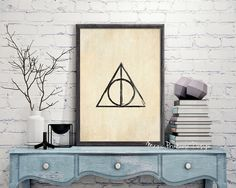 Harry Potter Deathly Hallows print by MagicPrintableDesign
