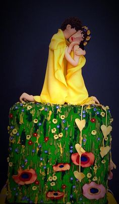 The Kiss - Gustav Klimt - Cake by Cakes by Pat