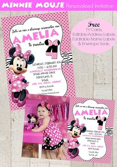 Minnie Mouse Invitation | Pink Minnie Invitation | Minnie Invitation | Minnie Invitation | Minnie Birthday | Epic Parties by REVO