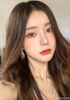 Ulzzang Hair, Ulzzang Makeup, Ulzzang Korean Girl, Light Makeup Looks, Pretty Makeup, Love Makeup, Asian Eye Makeup, Korean Makeup, Uzzlang Girl