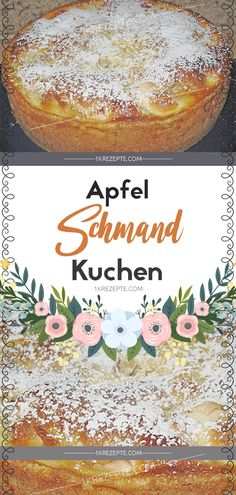 Apfel Schmand Kuchen Ingredients For the dough: 125 g butter 125 g sugar 1 p. Vanilla sugar 3 egg (s) 250 g flour pck. Baking powder For the topping: 2 apples For the cast: 200 g sour cream 2 tbsp Apple Sour Cream Cake, Apple Cake, No Gluten Diet, Diet Salad Recipes, Vanilla Sugar, Cake Ingredients, Cookie Desserts, Italian Recipes, Cake Recipes