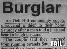 Funny Pictures : Burglary Fail