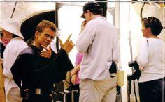 Hayden behind the scenes of Star Wars episode 2 :)