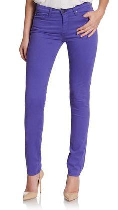 ADRIANO GOLDSCHMIED The Prima Purple Skinny Jeans Women's Size 29 New $168 #AGAdrianoGoldschmied #SlimSkinny
