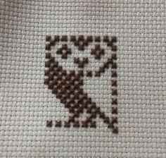 BBC micro cross stitch owl