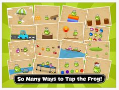 Tap the Frog App - Fine motor activity that requires finger tapping and swiping of the colorful frog.