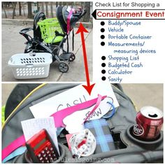 What to take when Consignment Event Shopping