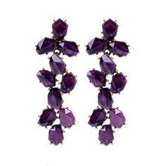 Inspired by these purple Oscar de la Renta earrings