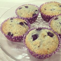 A little twist to a basic blueberry muffin recipe. You will definitely love the sweet, soft centre filled with blueberry jam and cream cheese! Enjoy everyone!