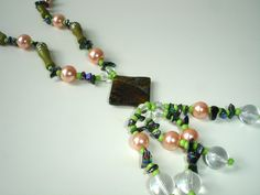 Multicolored long necklace