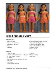 (9) Name: 'Sewing : American Girl Doll SU Outfit  + Guide