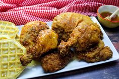 Buttermilk Fried Chicken With Spicy Honey Drizzle #honey #spicy #Fried #buttermilk #chicken #justapinchrecipes Buttermilk Fried Chicken, Fried Chicken Recipes, Chicken Thigh Recipes, Spicy Honey, Turkey Dishes, Turkey Recipes, Veggie Delight, Honey Recipes, Fries In The Oven