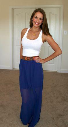 Aztec Maxi Skirt with Tank Top   BentleyBlonde   10% OFF your order with code: SHORELINEREPWENDY