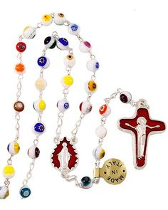 White Genuine Murano Beads Rosary in Rosaries ,the catholic store