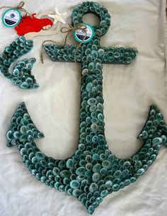 Shell Anchor with matching mermaid by FromCapeMayWithLove on Etsy
