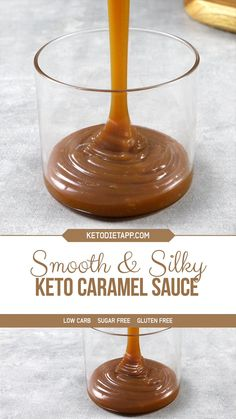 Low Carb Sweets, Low Carb Desserts, Low Carb Recipes, Recipe Using Caramels, Keto Sauces, Low Carb Ice Cream, Keto Dessert Easy, Caramel Recipes, 3 Ingredients