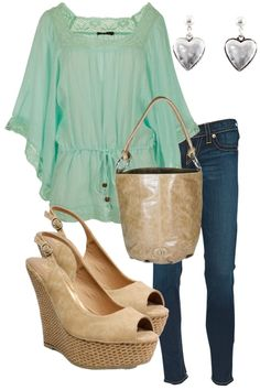 tunic ,earrings, jeans