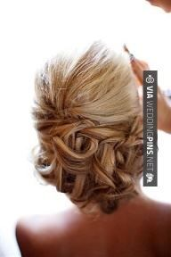 project wedding: site where you can browse wedding hair styles by category! Ombré Hair, Hair Dos, Prom Hair, Prom Updo, Curls Hair, My Hairstyle, Pretty Hairstyles, Wedding Hairstyles, Wedding Updo