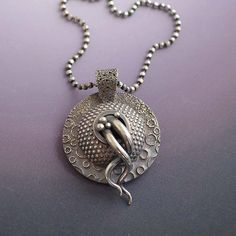 Strange Domed Chthulu Silver Pendant with by LizardsJewelry, $198.00