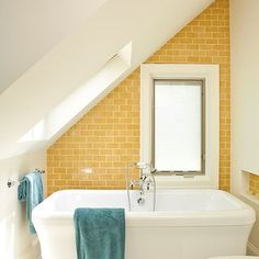 Atlanta Bathroom Sloped Ceiling Design, Pictures, Remodel, Decor and Ideas