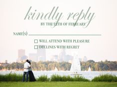 Custom RSVP Card for Wedding Invitation using Wedding Photography by Brovado Weddings