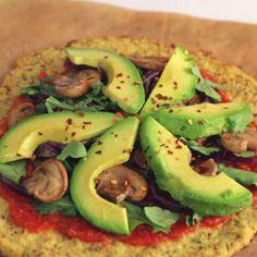 The ultimate veggie pizza! Cut the carbs by making a crispy cauliflower crust.