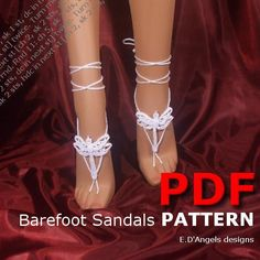 Barefoot Sandals Pattern DRAGONFLY - via @Craftsy