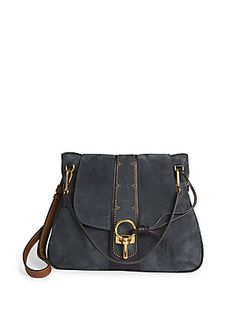 Chloé Lexa Medium Suede Shoulder Bag
